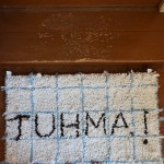 textile work with words
