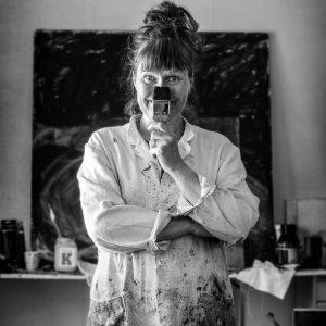 artist standing in a studio