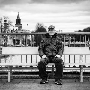 man sitting on a bench